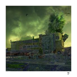Post Apocalyptic Royton Doctors NHS Building