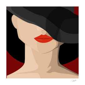 Lady in Black Hat