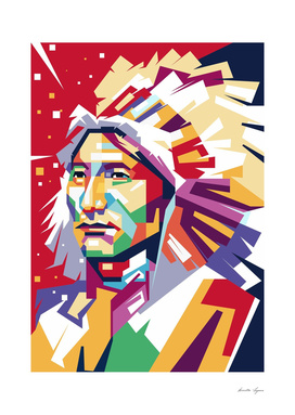 Apache in WPAP art