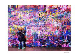Young graffiti artist