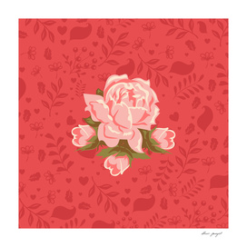 Floral romantic pattern