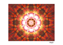 Crystal Refraction - Red & Orange