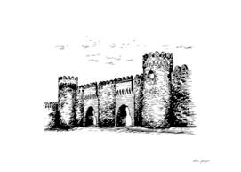 Castel of Baku ink art