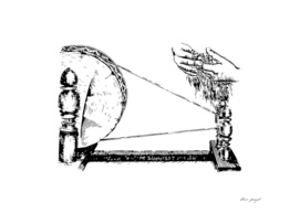 Spinning wheel ink art