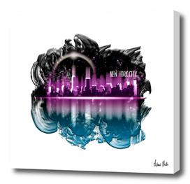 Graphic Art   A Dream of New York City no. 4