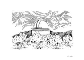 Observatory hand drawing