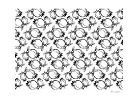 Pomegranate lineart pattern