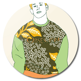 NICK FLORAL GREEN