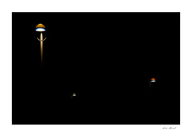 Fine Art Photography, israeli Home Decor, lamps night aliens
