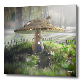Fairy Tale Mushroom House - Early Morning