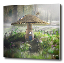 Fairy Tale Mushroom House - Early Morning