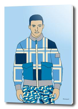 LEOPARD PANTS BLUE