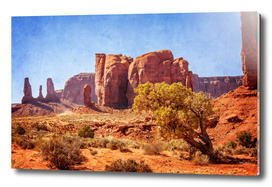 Most Interesting View of Monument Valley on a very hot day.