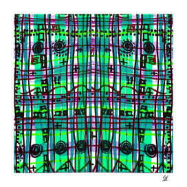 Bizarre Spacy Plaid ~ Blue Green Waters