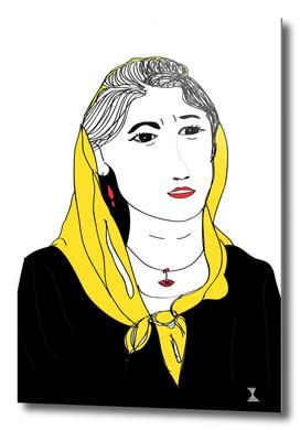 Mujer con velo