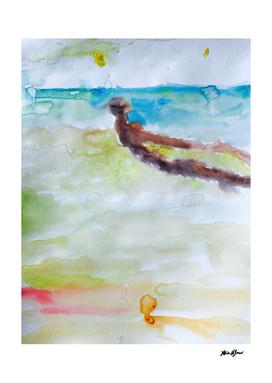 Miami Beach Watercolor #3