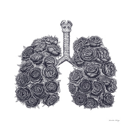 Lungs with peonies