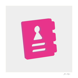 agenda isometric icon