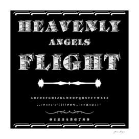 Font Script Typeface Heavenly angels Flight vintage s