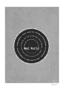 Mad World by Gary Jules Poster