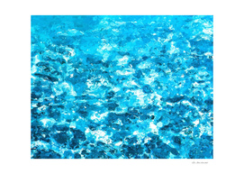 blue water painting abstract