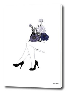 Mes gambettes à fleurs.