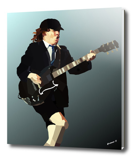 Low Polygon Portrait of Angus Young