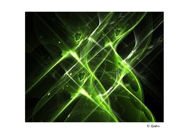 A Green Aura Abstract Art print