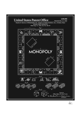 Board Game Patent - Black