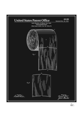 Toilet Paper Roll Patent - Black