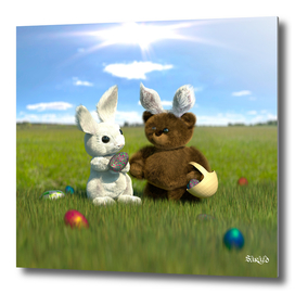 Teddy Meets the Easter Bunny