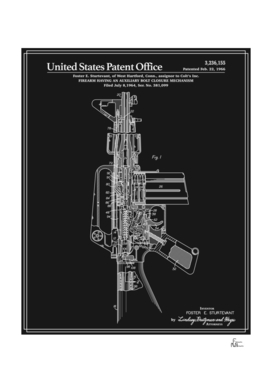 AR-15 Semi-Automatic Rifle Patent - Black