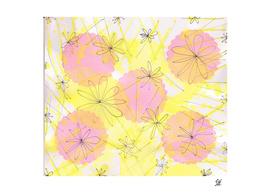 Happy Flowers ~ Pink & Yellow