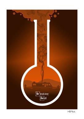 Breaking Bad - Minimal TV Poster - Orange