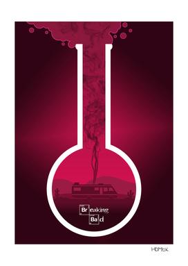 Breaking Bad - Minimal TV Poster - Pink-(man)
