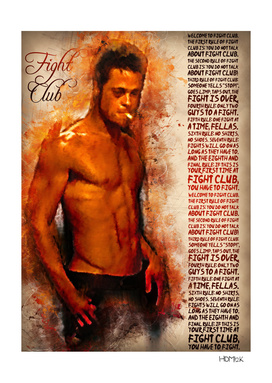Fight Club - Rules - alternative art poster