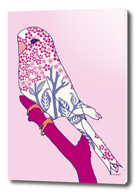 BUDGIE FLORAL PINK