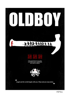 Oldboy - Minimal Movie Poster. A Film by Chan-wook Park.