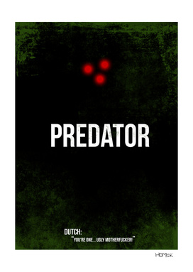 Predator - minimal movie poster alternative