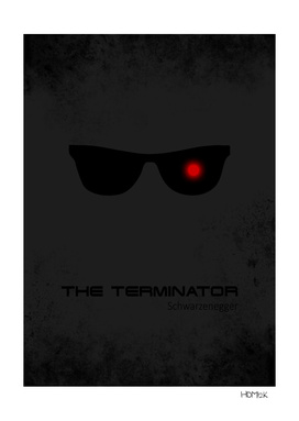 Terminator - minimal movie poster alternative