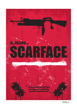 Scarface - Minimal Alternative Movie Poster