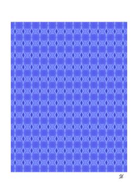 Diamond And Ovals Symmetrical Pattern In Medium Blue
