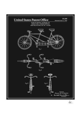 Tandem Bicycle Patent - Black