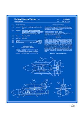 Space Shuttle Patent - Blueprint