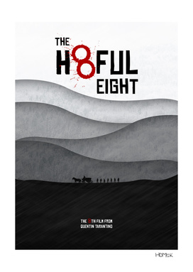The Hateful Eight - Minimal alternative Movie Poster.