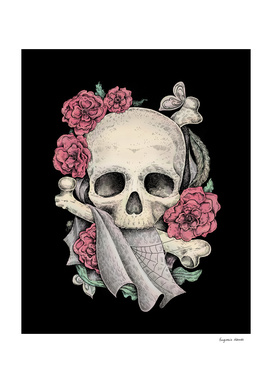 Memento Mori (Black Background)