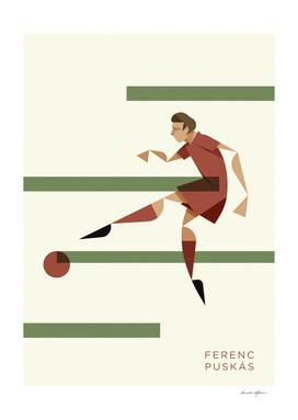 Ferenc Puskas, the portrait
