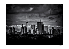 Toronto Skyline From The Pape Ave Bridge No 2