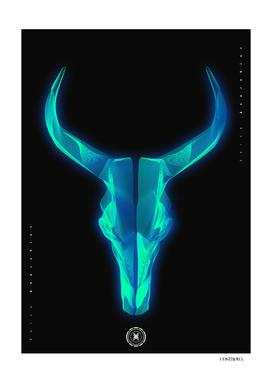 Bull skull wireframe