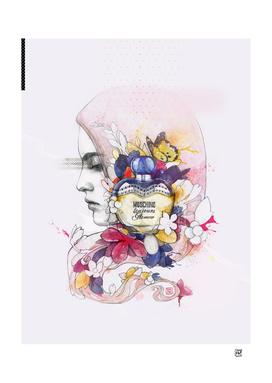 Moschino Parfum Illustration
